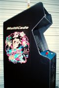 Black multicade side art installed