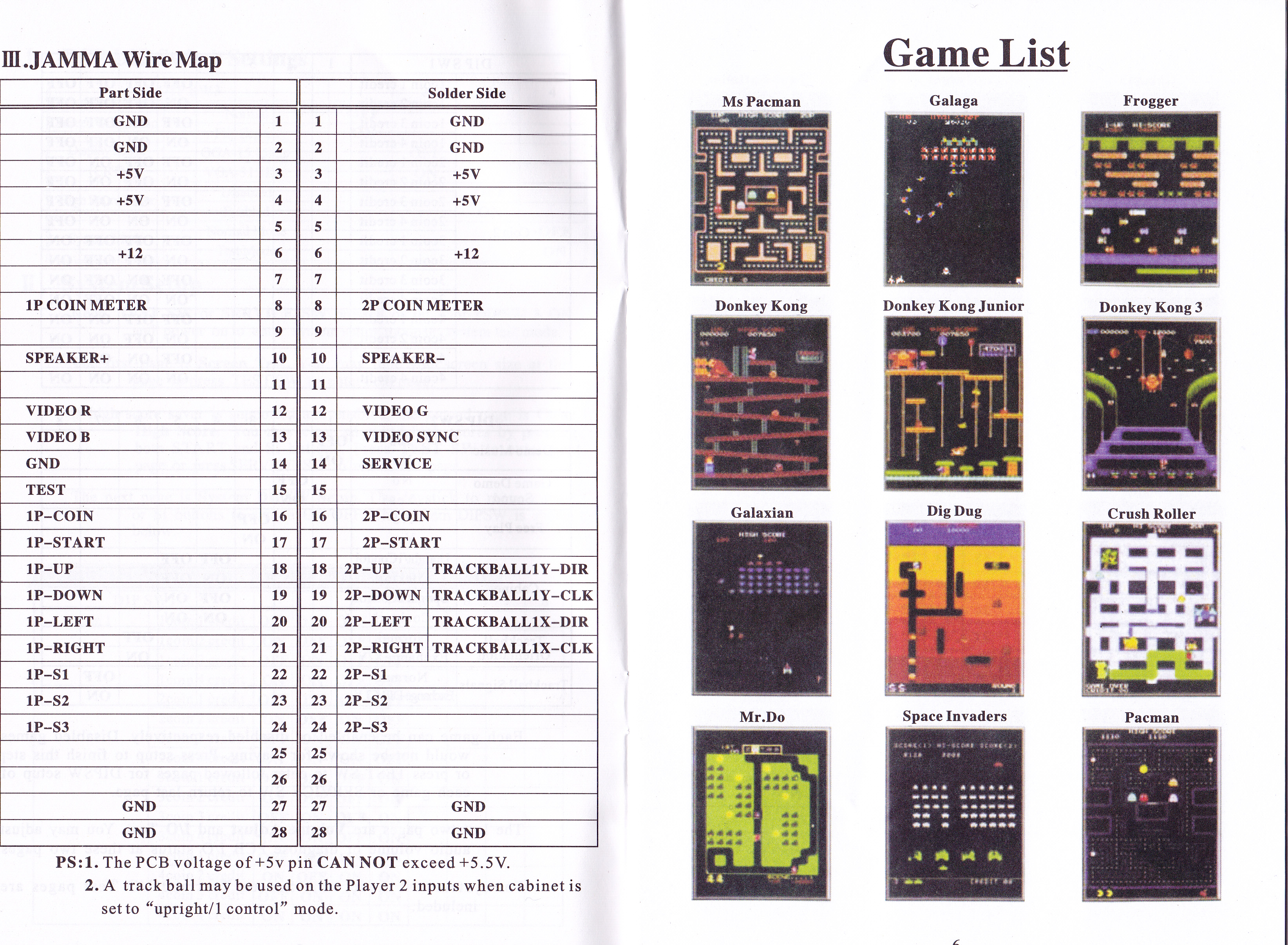 Icade 60-in-1 multicade system, games list, and manual.