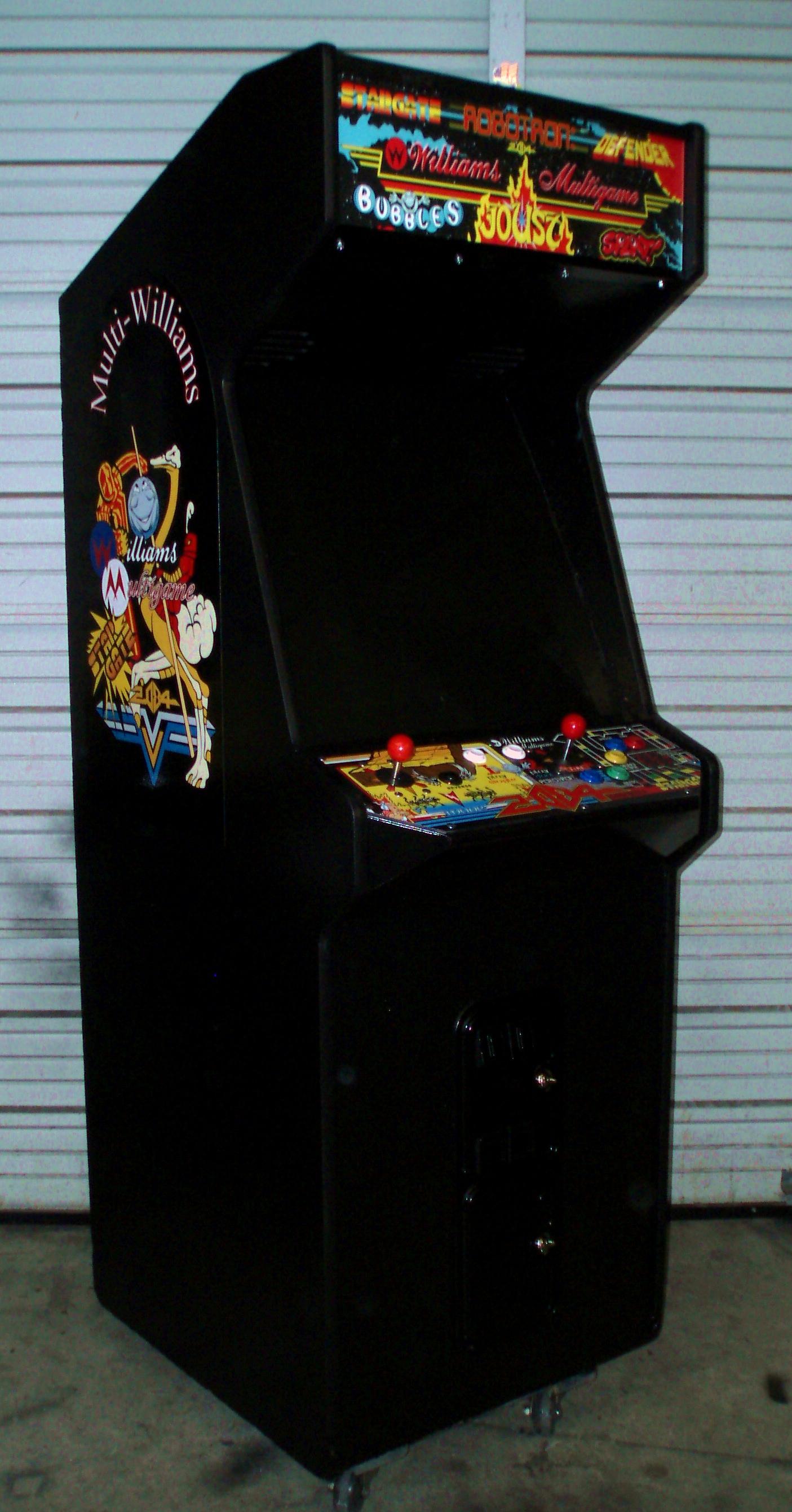 Williams Robotron Arcade Game Control Panel Overlay