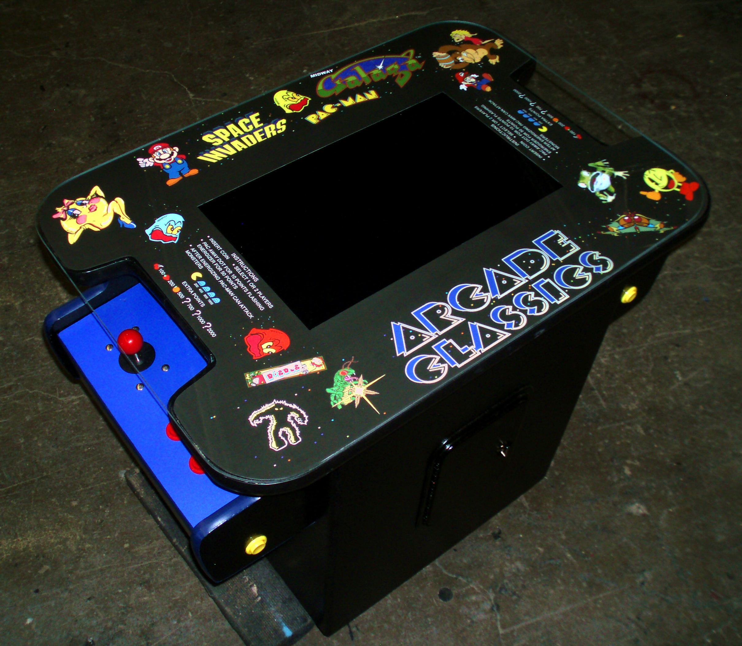 Arcade Video Game Cocktail Table Underlay Graphic AceAmusements