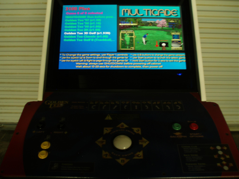 Golden Tee Golf Arcade Video Game Machine Upgrade