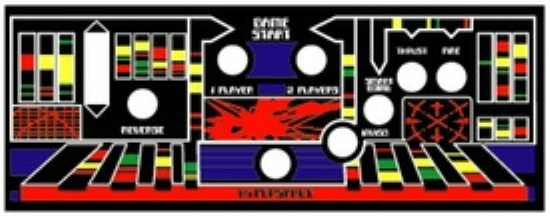 Defender and Stargate Arcade Control Panel Layout