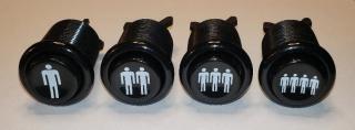 Black start buttons (2)